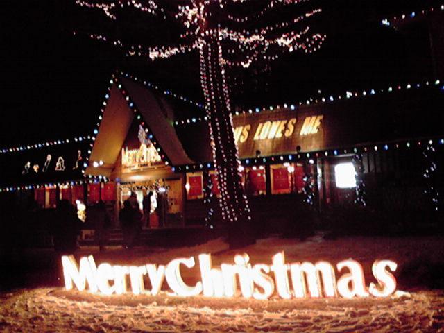 人間クリスマスツリー