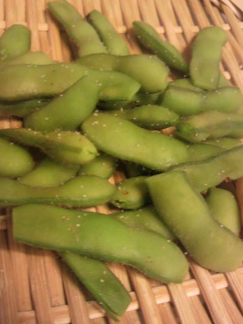 枝豆とトウモロコシ