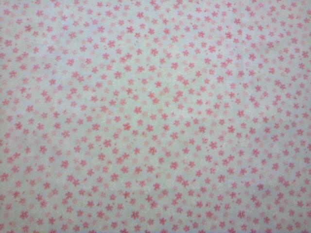 水色地桜柄の布地