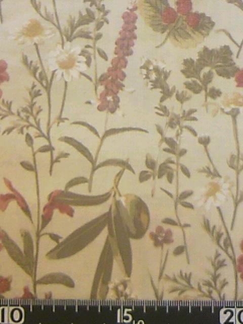 ボタニカル柄の布地