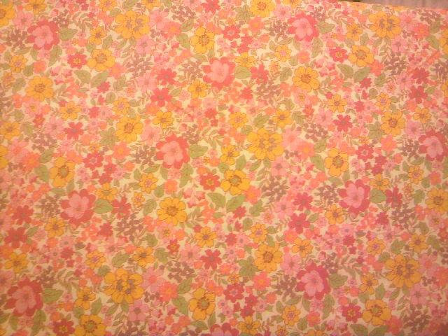 カラフル花柄の布地