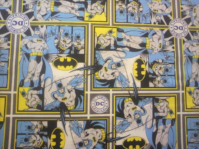 バットマン柄の布地