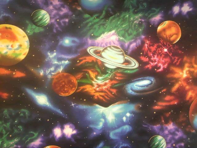宇宙柄の布地