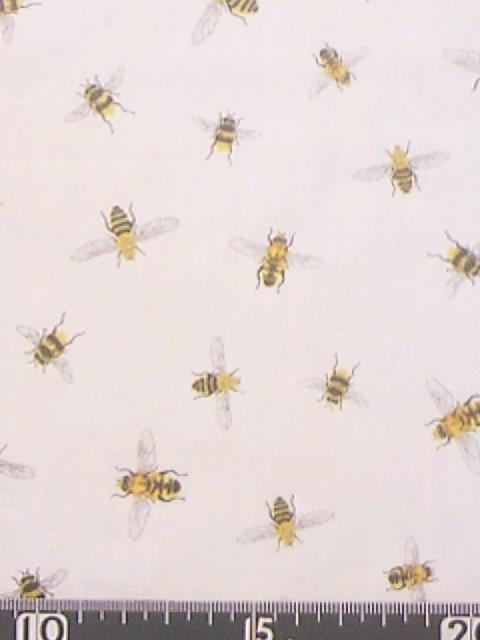 ハチ柄の布地