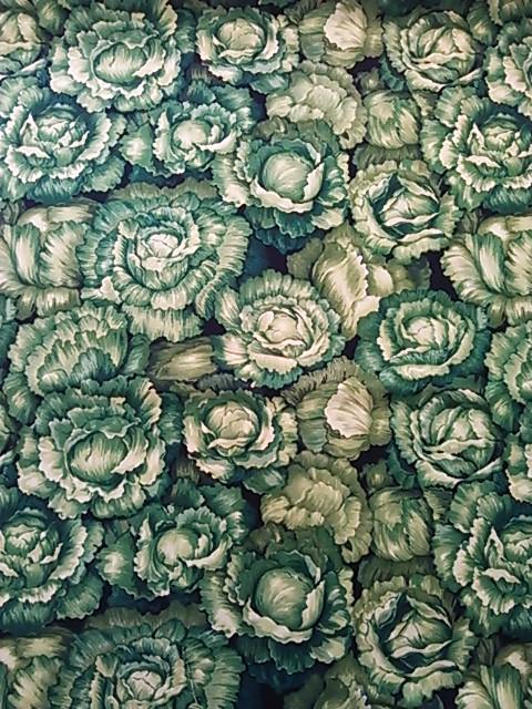 レタス柄の布地