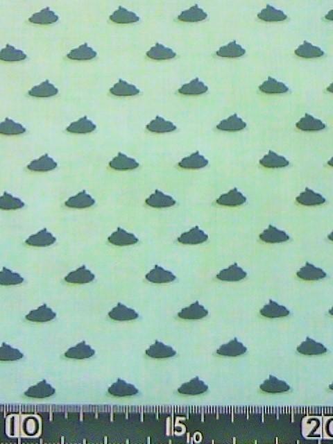うんちちゃん柄の布地