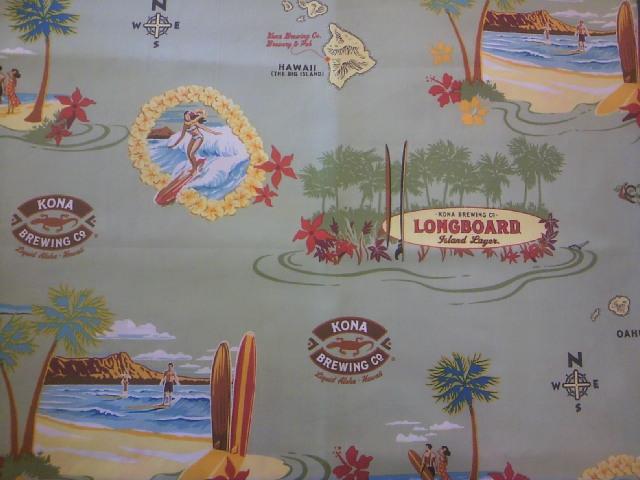 ハワイ柄の布地