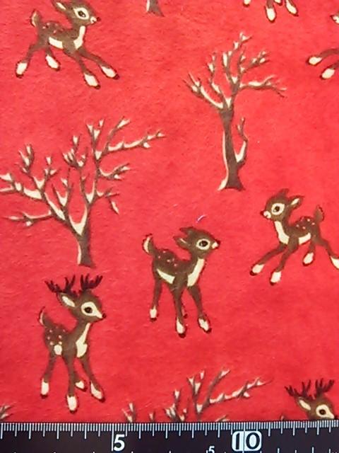 バンビ柄の布地