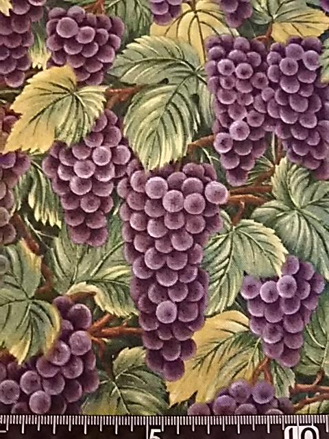 ブドウ柄の布地