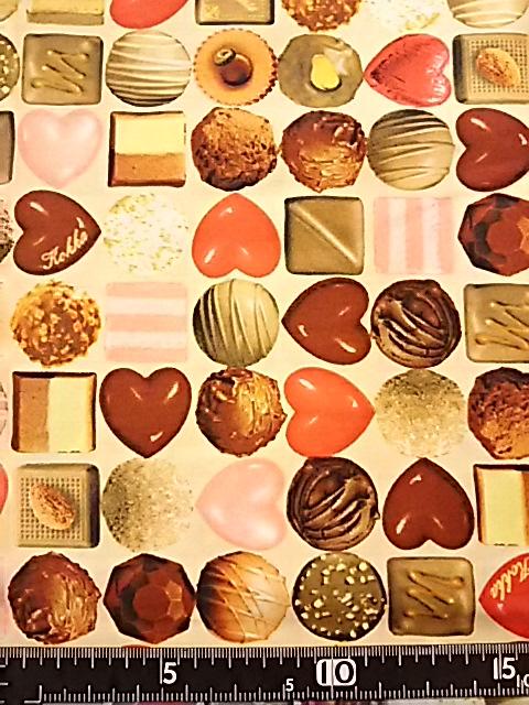 チョコレート柄の布地