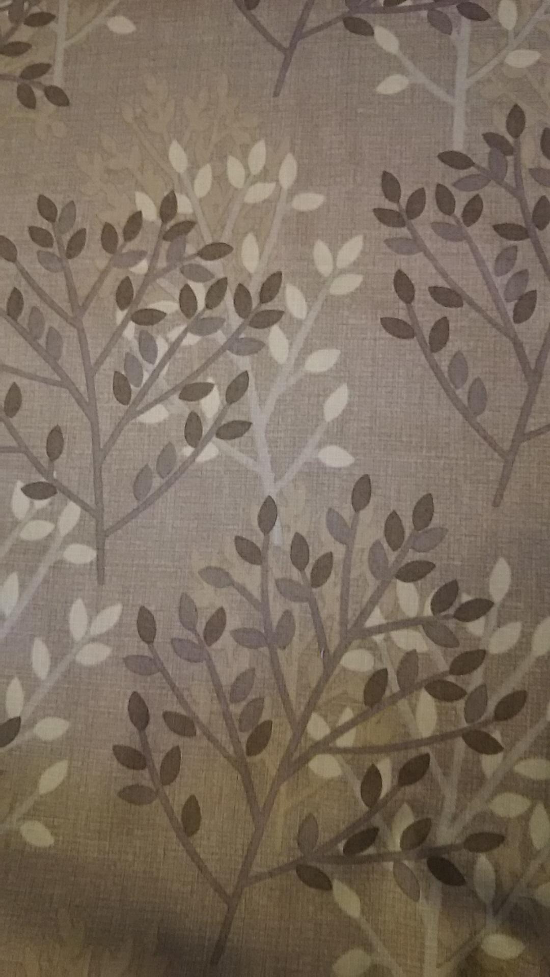 樹木柄の布地